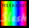 weekendslash: Default weekend slash fest icon. (rainbow)