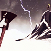 tokiwartooth: Skwis on cliff, guitar in snow. Dun dun dun! (Skwisgaar: Lightning)
