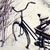 semielliptical: a bicycle in snow (snow)