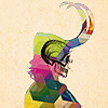 ninetydegrees: Drawing: Loki with a surimposed skull (loki)