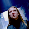 ginainthekingsroad: Olivia from Fringe, blueish corridor background, dutch angle (tilted) (Fringe- Olivia Dutch Angle)