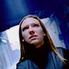 ginainthekingsroad: Olivia from Fringe, blueish corridor background, dutch angle (tilted) (Fringe- Olivia Dutch Angle)