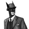 kashmirkong: Batman in a bowler hat. (dapperbat)