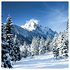susanreads: snowy landscape with mountains (snow (mountains))