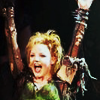 scaramouche: Kerry Ellis as Meat from We Will Rock You, arms in the air jubilantly (meat goes yay!)
