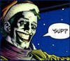 "rdfox: Joker asking Tim Drake, ""'Sup?"" from Paul Dini's ""Slay Ride"" (""'Sup?"", Joker)"