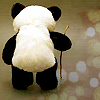 angelikitten: A toy panda using a walking stick (Disability - Fantastick)