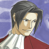 truthsnomiracle: Edgeworth is looking at someone sideways with a daring, confident smirk. (Am I not absolutely right?)