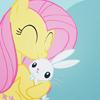 cheshirekitten: (MLPFIM: Fluttershy Angel hug)
