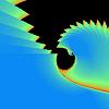 403: Fractal of nested rainbow curves. (Edges)
