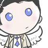 scaramouche: Cartoon artwork Castiel from Supernatural (castiel is still very good at staring)