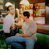ilyena_sylph: duncan and methos at the counter of Joe's bar (Highlander: duncan & methos)