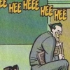 carnivorousgiraffe: DCAU Joker skipping with Hee Hee repeating above his head. (Heeheeheehee)