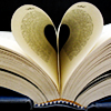 noblealice: book pages joining to make a heart (misc:stock:falling star from your hand)