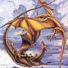 sharpest_asp: Ramoth and Mnementh's mating flight (Pern: Dragons Mating)