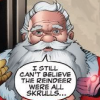 "dizmo: Comic scan: Santa Claus saying ""I still can't believe the reindeer were all Skrulls..."" (comics: santa's skrull reindeer)"