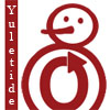 autumnus: Yuletide in vertical next to a snowman made partially out of OTW logo (yuletide, otw)
