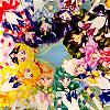 everchangingmuse: manga picture of all the sailorsenshi (senshi in a circle)