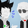 veebox: John + Dave ☆ Homestuck (anything but loud)