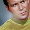 carnadosa: Kirk oldschool style with that weird greenish shirt that would look horrible on anyone else. (Startrek, Kirk)