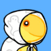 pyrrhocorax: A yellow salamander consort wearing robes, the Secret Wizard, smiles at you (secret wizard)