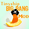"tinyshipbangmod: Orange peel shaped into a boat w/a pirate hat & ""Tinyship BIG BANG Mod"" above (Tinyship Big Bang Mod)"