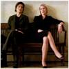 highlander_ii: Alex Cabot sitting on a bench with Oliva Benson ([Alex] sitting with Liv)