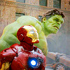 were_duck: Iron Man and Hulk fighting together in New York (Iron Man and Hulk)