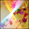 streetlampstars: strings of multicoloured stars with rainbow twists of light (streetlamps into stars) (Default)
