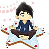 drgaellon: Adam sitting on a snowflake cookie (Adam Cookie)