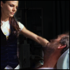 highlander_ii: Allison Cameron standing over House in his hospital bed ([House] w/ Cam - hospital)