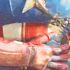 spatz: Steve holding his ribs below Chitauri blast wound (injured Cap)