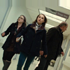 mjolnir_retriever: Jane Foster, Darcy Lewis, and Erik Selvig hurrying down a corridor. (idk my scientist bffs)