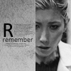 "purpleyin: Priya from Dollhouse in greyscale and caption of ""Remember"" (remember)"