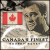 "purpleyin: Greyscale Rodney McKay with Canadian flag in colour and caption ""Canada's Finest"" (canadas finest)"