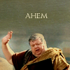"purpleyin: Announcer from HBO Rome and caption ""Ahem"" (ahem)"