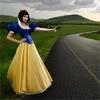 nonnie: Real life Snow White hitchhiking. (reallife!snowwhite)