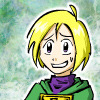 nofrigatelikeabook: fanart of Ivan with a nervous smile (from the GBA game Golden Sun) (nervous smile ivan)