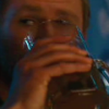 mjolnir_retriever: Thor drinking from a large stein, casting an amused and challenging look over the top. (drinking contest)