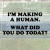 szandika: (making a human)