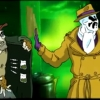 carnivorousgiraffe: Screenshot from fan animation where  Rorschac of Watchmen is refusing drugs. (Just say no.)