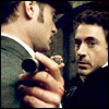 starlady: holmes holds his spyglass against watson's chest (intimacy)