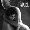 isagel: Lex and Clark of Smalllville, a black and white manip of them naked and embracing, with the text 'Isagel'. (fs evan lysacek)