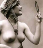 thingswithwings: a lady from the twenties, half naked with a hand mirror (queer - other victorians)