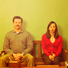 goodbyebird: Parks and Recreation: Ann and Ron sit next to one another in awkward silence. (P&R nonsense we are very close friends)