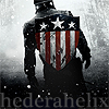 hederahelix: back of Captain America and his first shield, walking into the winter war (weary captain america)