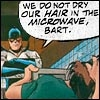 liviapenn: bart allen is trying to dry his hair in the microwave (dc: bart's bad plan)