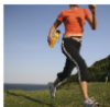 jamethiel: A woman running past the camera, looking strong (Running)