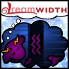 order_of_chaos: Eridan Ampora from Homestuck as a dreamsheep dreaming of dreamwidth.  Blue stripy body, purple head, yellow horns. (Default)