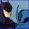 batman: Jaime Reyes and Batman from Blue Beetle (you'll never know that you're my heeeero)